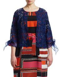 Marina Rinaldi - Crop Lace Jacket - Lyst