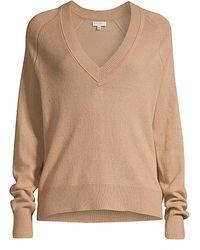 Equipment Madalene V-neck Cashmere Sweater - Natural