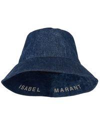 Isabel Marant Loiena Denim Bucket Hat - Blue