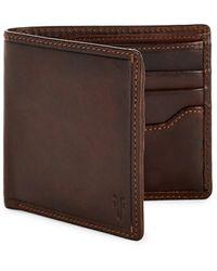 Frye Logan Bi-fold Leather Wallet - Brown