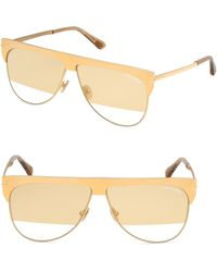 c00453b0d2c Lyst - Tom Ford 0144 Marko Aviator Sunglasses in Metallic for Men