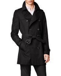 Burberry The Kensington – Mid-length Trench Coat - Black