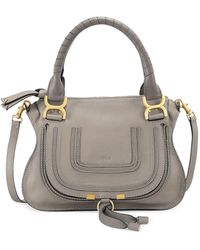 Chloé Marcie New Classic Cashmere Gray Leather Hobo Bag