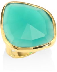 Monica Vinader - Siren Nugget Green Onyx Cocktail Ring - Lyst