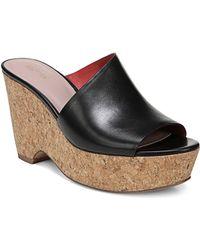 Diane von Furstenberg - Bonnie Black Platform Wedge Sandals - Lyst