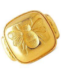 Elizabeth Locke Fat Bee 19k Yellow Gold Signet Ring - Metallic