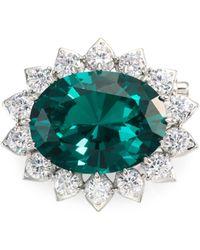 Adriana Orsini - Emerald Petite Crystal Pin Brooch - Lyst