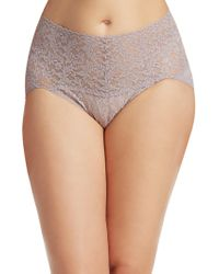 Hanky Panky - Plus Size Retro Lace V-kini Panty - Lyst