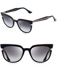 cddd8ddf09c Dita Eyewear - Women s Monthra 50mm Cutout Sunglasses - Black Rose Gold -  Lyst