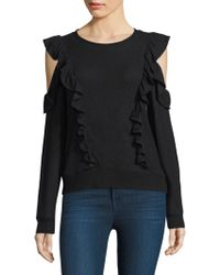 Joie - Fealyn Cold-shoulder Ruffled Sweater - Lyst