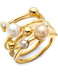 Majorica Endless Simulated Pearl Ring - Metallic