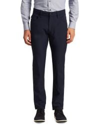 Armani - Techno Stretch Slim-fit Trousers - Lyst