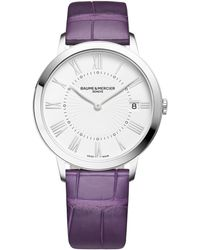 Baume & Mercier - Classima 10144 Stainless Steel & Alligator Strap Watch - Lyst