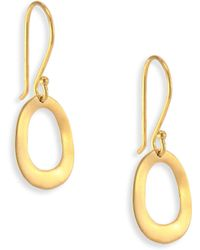 Ippolita - Glamazon Sculptural Metal 18k Yellow Gold Mini Open Oval Drop Earrings - Lyst