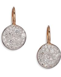 Pomellato - Sabbia Diamond & 18k Rose Gold Drop Earrings - Lyst