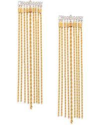Fallon - Yacht Club Crystal Waterfall Earrings - Lyst
