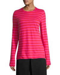 Proenza Schouler - Striped Long Sleeve Top - Lyst