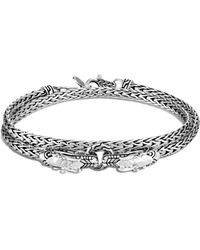 John Hardy - Legends Naga Sterling Silver Double Wrap Dragon Head Bracelet - Lyst