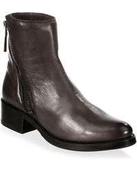 Frye - Demi Zip Leather Booties - Lyst