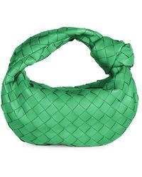 Bottega Veneta Mini Jodie Leather Hobo Bag - Green