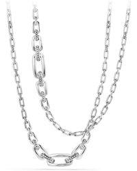 David Yurman - Diamonds & Sterling Silver Chain Necklace - Lyst