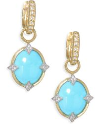 Jude Frances - Small 18k Gold & Diamond Moroccan Turquoise Drop Earring Charms - Lyst