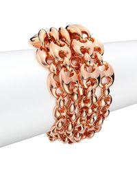 Gucci - Marina Chain 18k Rose Gold Link Bracelet - Lyst