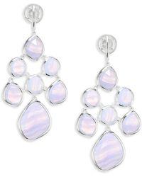 Monica Vinader - Siren Blue Lace Agaate Chandelier Earrings - Lyst