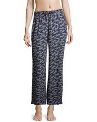 Onia - Chloe Printed Wide Trousers - Lyst