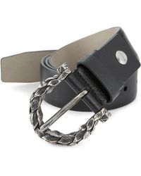 Ferragamo - Leaves Leather Belt - Lyst