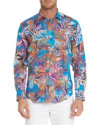 Robert Graham - Classic-fit Multicolored Linen Button-down Shirt - Lyst