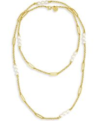 Majorica   Modern 6mm Organic Pearl Necklace   Lyst
