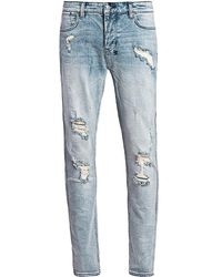 Ksubi Sign Of The Times Van Winkle Trashed Dreams Skinny Jeans - Blue