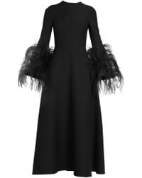 Valentino - Wool And Silk Gown - Lyst