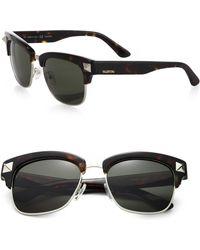 Valentino - Men's 53mm V118sm Rockstud Plastic & Metal Clubmaster Sunglasses - Black - Lyst