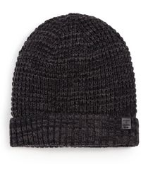 Bickley + Mitchell Faux Sherpa-lined Thermal Cuff Beanie - Black