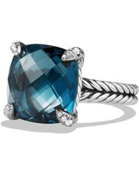 David Yurman - Chatelaine Ring With Green Orchid And Diamonds - Lyst