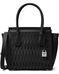 MICHAEL Michael Kors - Weave Leather Top Handle Bag - Lyst