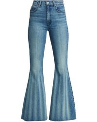7 For All Mankind High-rise Mega-flare Jeans - Blue