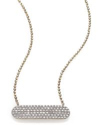 Phillips House Affair Diamond & 14k Yellow Gold Infinity Bar Necklace