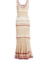 Altuzarra Herrik Crochet Knit Maxi Dress - Natural