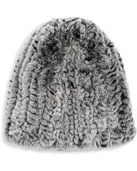 Surell - Rex Rabbit Fur Hat - Lyst