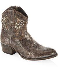 Frye Deborah Studded Leather Boots - Gray