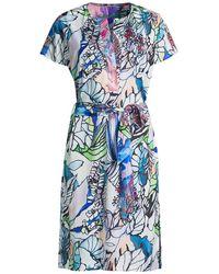 Robert Graham Caitlin Printed Belted Dress - Blue