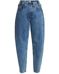 RE/DONE 80s Peg-leg High-rise Jeans - Blue