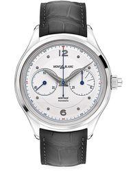 Montblanc Heritage Stainless Steel & Alligator Strap Monopusher Chronograph Watch - Metallic