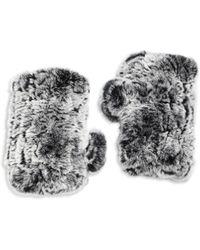Surell - Rabbit Fur Texting Gloves - Lyst