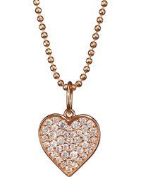 Sydney Evan - 14k Rose Gold & Diamond Heart Pendant Necklace - Lyst