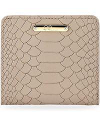 Gigi New York - Python Leather Mini Folding Wallet - Lyst