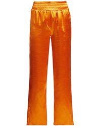 Cinq À Sept Kylie Satin Track Pants - Orange